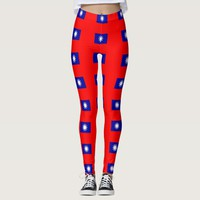 Leggings with flag of Taiwan