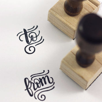 Stamp set - To and From