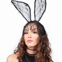 Bunny Floral Laced Headband