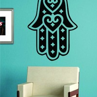Hamsa Hand Version 6 Decal Sticker Wall Vinyl Art Blessings Power Strength