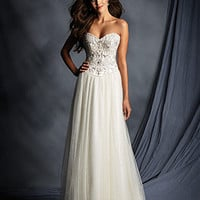 Alfred Angelo 2499 Strapless Beaded A-Line Wedding Dress