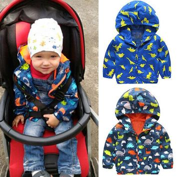 Boys Kids Children Waterproof Strombreak Windbreak Zip Jackets Rain Coat Outerwear Clothes