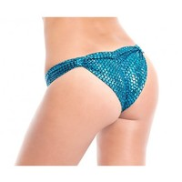 Mermaid Scrunched Booty Shorts | Women's Metallic Rave Booty Shorts