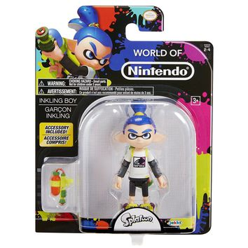 "NEW 2017 Splatoon Garcon Inkling World Of Nintendo 4.5"" Figure"