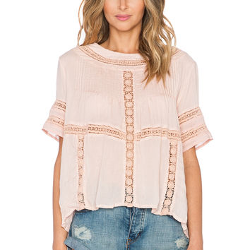 AMUSE SOCIETY Clover Top in Blush