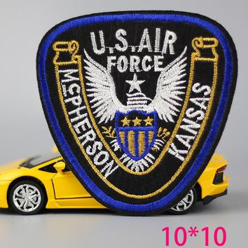 1pc  fashion big usair force eagle  Iron On Embroidered Patch For Cloth Cartoon Badge Garment Appliques  Accessory