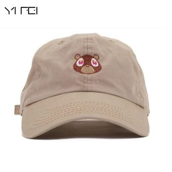 Trendy Winter Jacket Kanye West Bear Cap Peaked Cap Woman Baseball Cap  Bear Embroidery Hat Dad Cap Sports Hat For Men Sun Hat Fashion Snapback AT_92_12