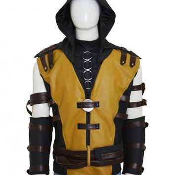 Mortal Kombat X Video Game Scorpion Leather Vest – In Style Jackets