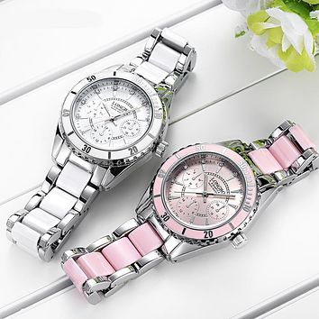 LONGBO women's chronograph watch (Pink or White)