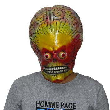 X MERRY TOY Scary Freaky Alien Mask UFO Extra Terr