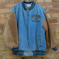 Denim & Suede Arizona Jean Company Bomber Jacket