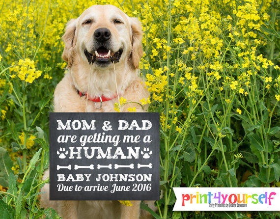 Baby Announcement Sign 8x10 Mom And From Print4yourself On