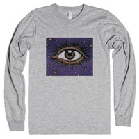Purple Eye-Unisex Heather Grey T-Shirt