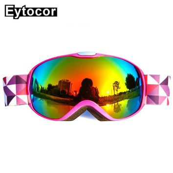 EYTOCOR UV400 Windproof Children Skiing Snow Goggles Boys Girls Ski Glasses Snow Goggles Eyewear Kids Skate Skiing Goggles Child