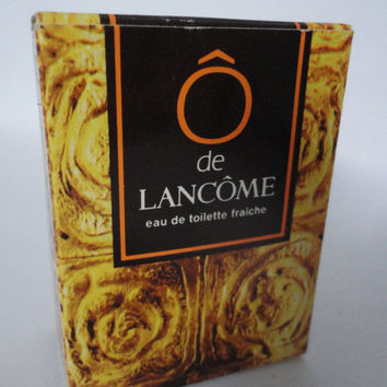 Vintage Collectors-item: Ô de Lancome, eau de toilette fraiche 10 pieces of Pochettes, Pouches in a Box, Old version...