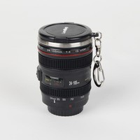 60ml Mini Creative SLR Camera Lens mug 1:1 Scale Plastic Coffee mug, Stainless Steel insulation Vodka Camera Lens Portable Cup