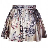 Aoki Fashion - Vintage Line map High Waisted Skirts