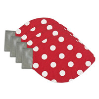 Chooty Polka Dot Red Light bulb Placemat Set of 4