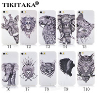 New Style 3D Cases Cute Cartoon Animal world logo giraffe Elephant OWL Phone Case Cover For Iphone 5 5S SE Hard PC Back Cover
