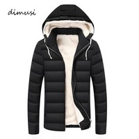 DIMUSI Winter Jacket Men Fleece Warm Jacket Casual Parka Men padded Winter Jacket Casual Slim Hooded Winter Coat Men 4XL,YA704