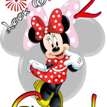 Personalized Disney Minnie Mouse Birthday Shirt T-shirt Very Cute! #2