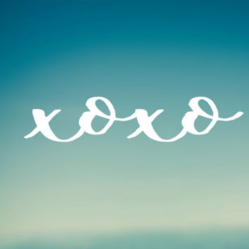 XOXO Decal | Car Decal | Laptop Decal | Water Bottle Decal | Bumper Sticker | Phone Decal |
