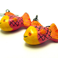 Vintage Fish Earrings