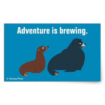 Finding Dory | Fluke & Rudder Rectangular Sticker