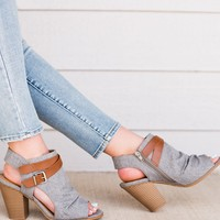 The Wildfire Peep Toe- Grey