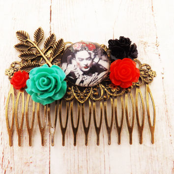 Frida Kahlo  Mexican Inspired Hair Comb