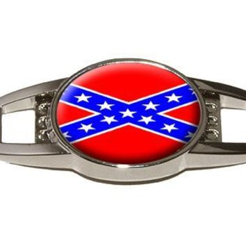 Confederate Rebel Southern Flag - Shoe Sneaker Shoelace Charm Decoration