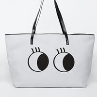 ASOS Scuba Novelty Eyes Shopper Bag