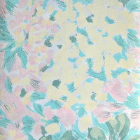 Morning Dew Floral Fabric, 100 Percent Cotton, 1 yard cut