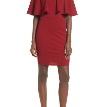 Soprano Ruffle Off the Shoulder Body-Con Dress | Nordstrom