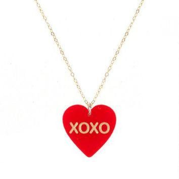 DCCKHD9 CONVERSATION HEART NECKLACE