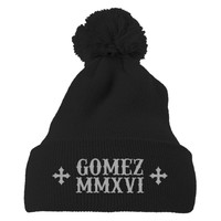 Selena Gomez Embroidered Knit Pom Cap