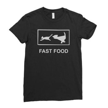 fast food funny Ladies Fitted T-Shirt