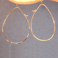 Hoop Earrings - Teardrop - SILVER
