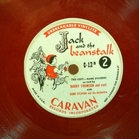 Vintage Childrens Record 33 1/3 rpm LP Red Vinyl Record Jack and the Beanstalk Caravan Records