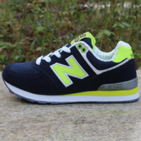 NEW BALANCE Women Men Casual Running Sport Shoes Sneakers Dark blue and green