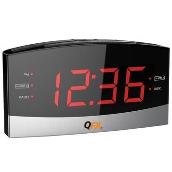 AM-FM LED Dual Alarm Clock Radio