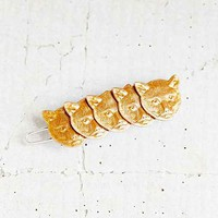 Cats Of Gold Barrette- Gold One