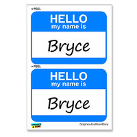 Bryce Hello My Name Is - Sheet of 2 Stickers