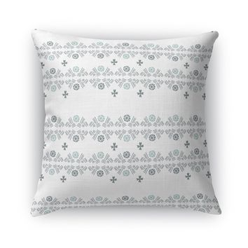 TRIBAL FLOWER HATCH, NEUTRAL Accent Pillow By Heidi Miller