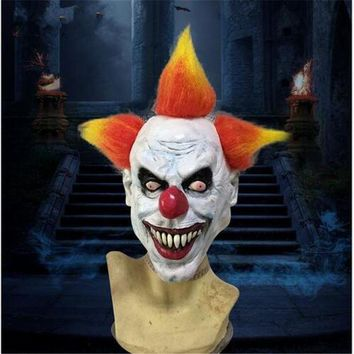 ICIKH6B Funny Halloween Party Cosplay Evil Circus Clown Mask Pennywise Halloween Horror Party Funny Clown Fancy Dress Costume Accesso