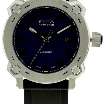 Bulova AccuSwiss Percheron Silicone Automatic Watch 63B190