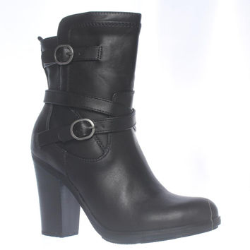 S.C. Ameliya Mid-Calf Dress Boots - Black