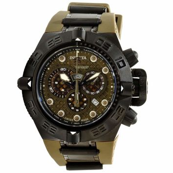 Invicta 11814 Mens Subaqua Noma IV Olive Green Dial Olive Green Strap Dive Watch