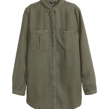 2c6d2e852c7 H M - Lyocell Shirt - Khaki green - from H M