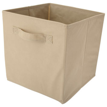 "Storage Bin Cube - Tan - 10.5"" x 10.5"" x 11"" - Storage - Dollar General"